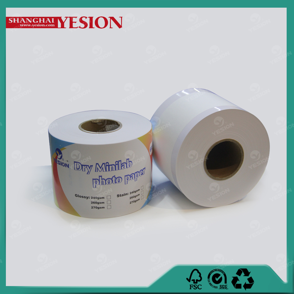 "Yesion 260gsm Dry Minilab Photo Paper Used Noritsu Digital Minilab, 5""/6""/8""/10""/12""x65m Noritsu D701 Dry Lab Photo Paper"