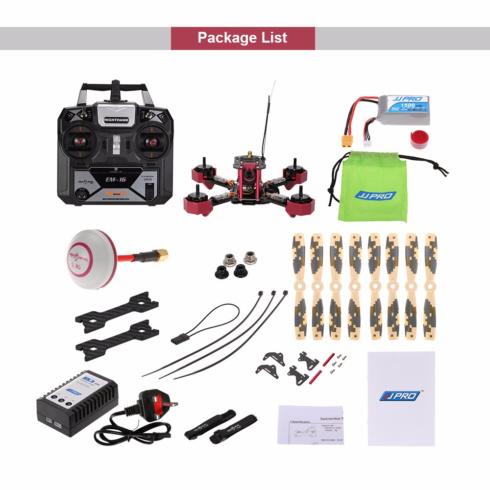 Professional JJRC JJPRO P200 800TVL HD Camera RC Racing Drone FPV Quadcopter