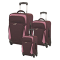 soft printed 20 24 28 inches traveling luggage bag set 3pcs