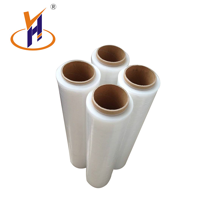 Plastic verpakking transparant clear pe stretch wrap film rolls