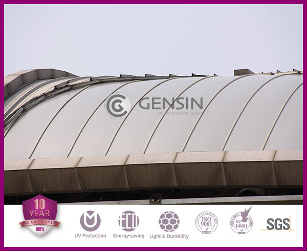 Lexan Polycarbonate Clear Sheets Greenhouse Six Walls U Shaped Connected Multiwall Hollow Panel PC Roofing UV Coating