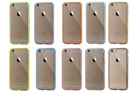 Very much top clear TPU PC case for iphone 6 / 6s, back is hard, side is soft