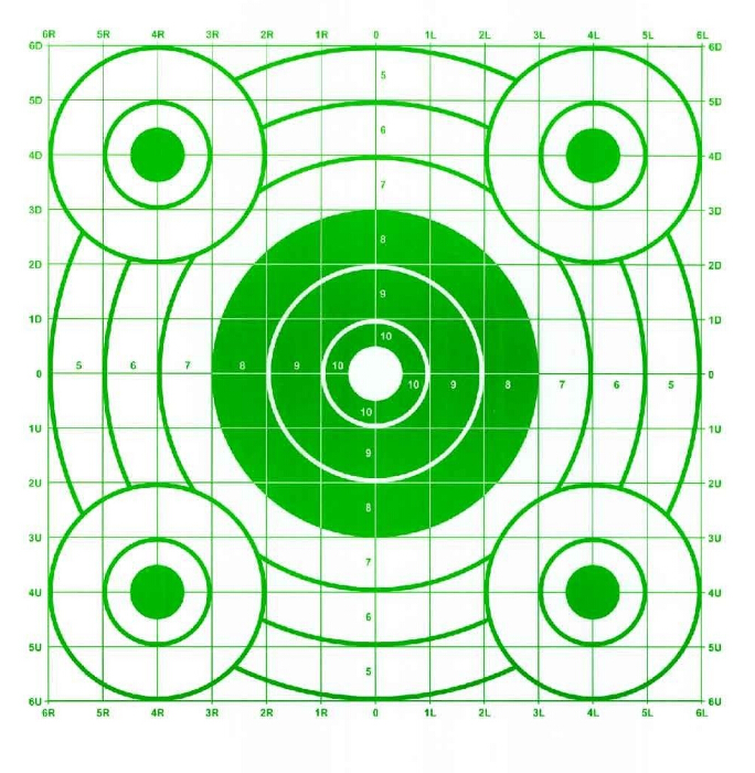Pistol & Rifle Sighting-In Bullseye Shooting Targets