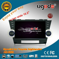 10.1 inch for Toyota Highlander with Radio GPS made in china car dvd player