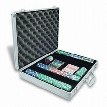 Acrylic poker chip case,poker chip case with 500 chips,ABS poker chip case