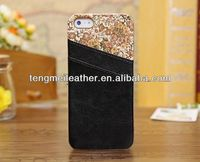 Genuine leather Wallet Card holder Faceplate Case Cover For Apple iPhone 5S 5G,For Iphone case manufacturers