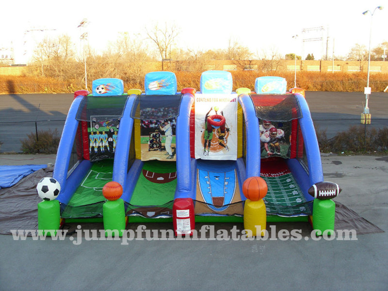 4 in 1 Inflatable interactive games Inflatable Soccer,Baseball, Football, basketball Shooter
