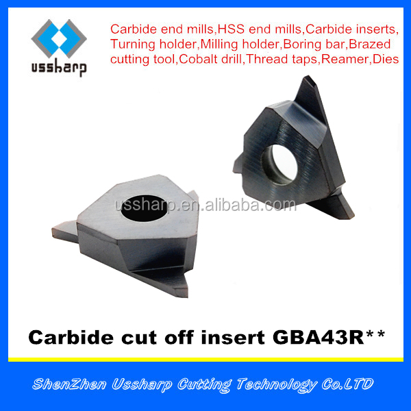 USSHARP part off insert,USSHARP cutting off insert,carbide insert GBA