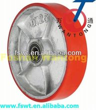 Heavy Duty Iron Core Polyurethane Fixed Industrial solid caster wheel