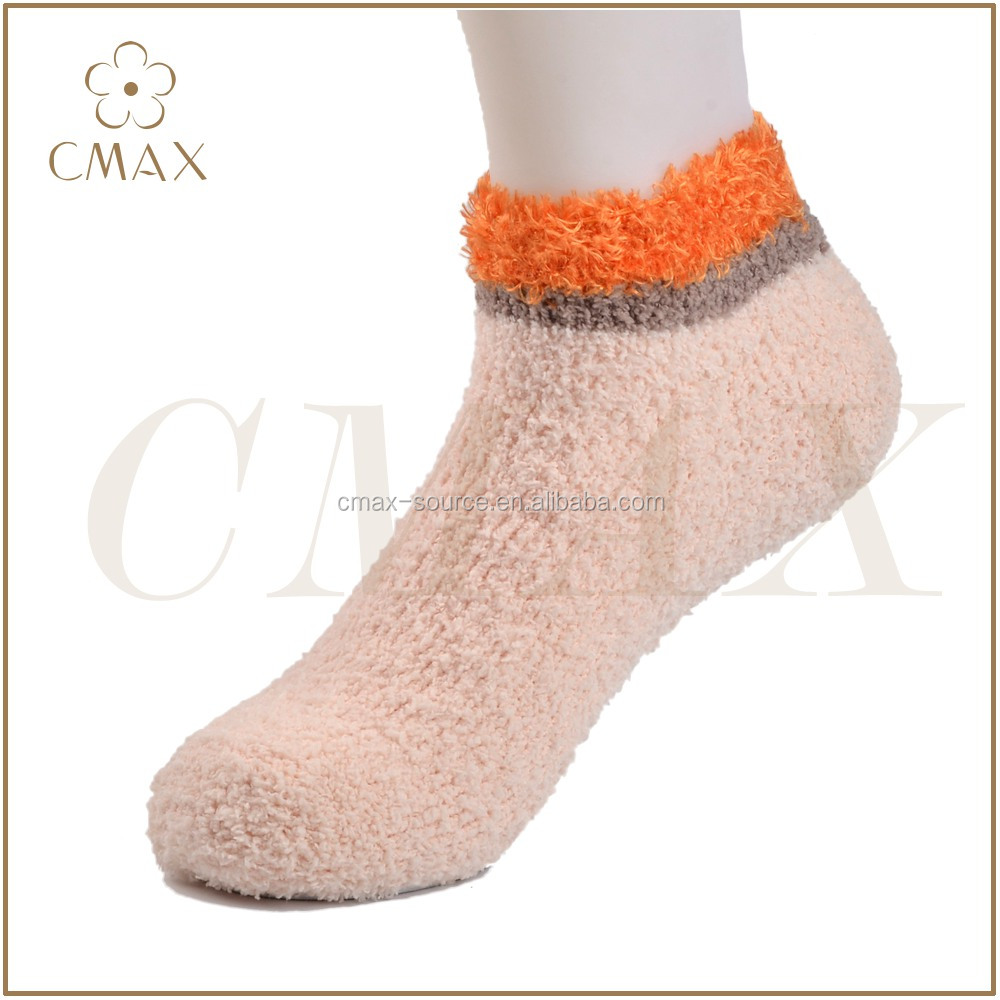 Hot sale lady/women cozy sneaker socks,lady home floor ankle socks,lady fluffy boat socks