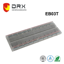 High Quality Popular 830 Points Transparent Electronic Solderless Breadboard