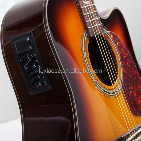 from China Musical instruments manufacture best acoustic electric guitar