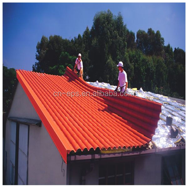 2017 Yantai Huaxiang non asbestos price per square meter of steel sheet metal roof