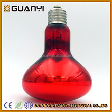 SELL 100w 150w 175w 250W Natural red glass R125 infrared heating lamp