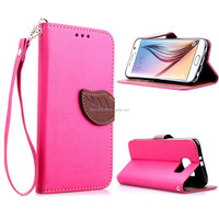 Stylish Color Handbag Leather Wallet Holster Flip Cover Case For Samsung Galaxy S 6