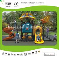 Kids rubber coated outdoor playground equipment for restaurant