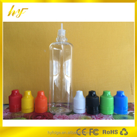 100ml PET clear e liquid plastic bottle with childproof & tamper evident cap easy squeeze from China manufacture