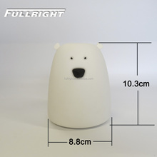 Dry Batteries power silicone bear children room light led children lamp big nightlight
