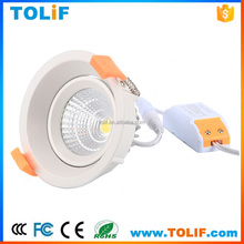 Non-glare COB LED spot lights 12W Recessed adjustable led downlight