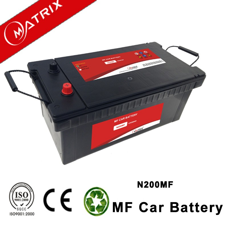 12v 200ah lead acid truck automotive smf car battery n200