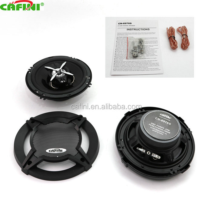 high performance 12v 100w 6inch dual-cone mounting car coaxial speaker, woofer speakers for car
