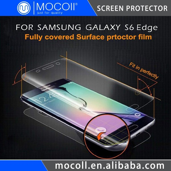 Japan TPU Anti-shock Screen Protective Film For Mobile Phone S6 Edge Screen Protector Full Cover Curved