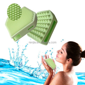 RENJIA face wash brush precision pore cleansing pad cellulite massager brush