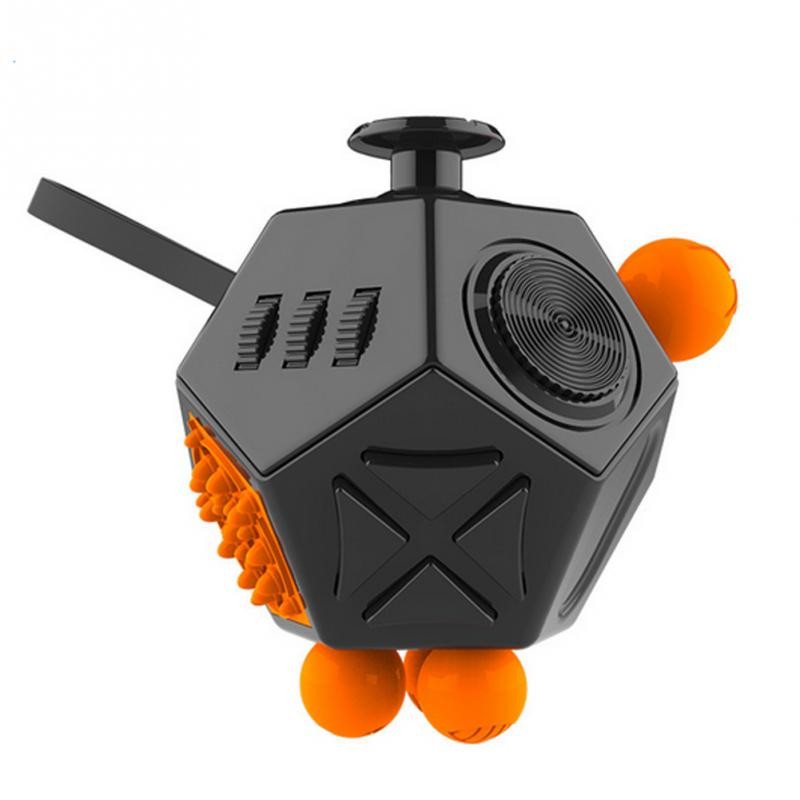 New ABS 12 Sides Fidget Cube Relieves Stress for Children and Adults