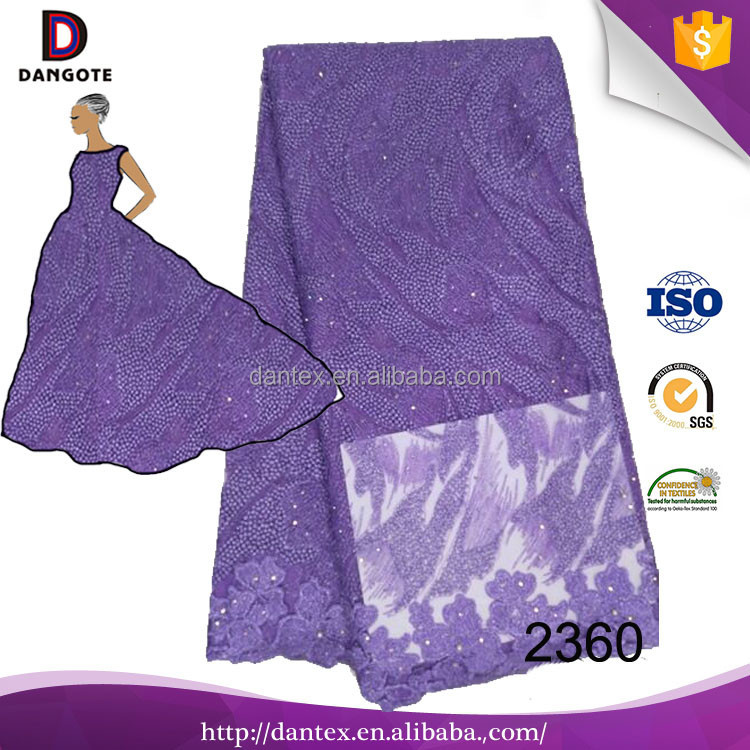 New arrival nigerian tulle lace african french lace fabric ,sequence beads ,purple laces