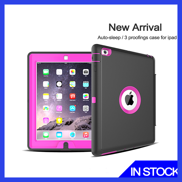 Top Pro Leather Case Cover for Ipad, Anto-sleep and Stand Holder