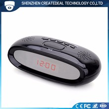 HD 1080P Hidden Multi-function Radio Alarm Clock Camera with Motion Detection for Home security