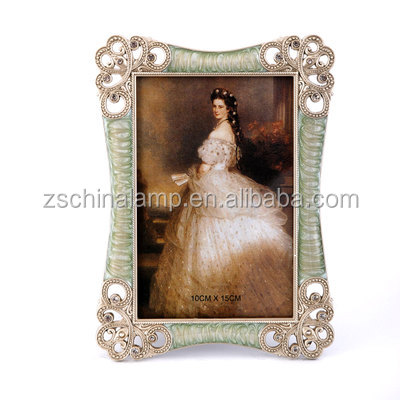 Trendy Resin Craft Large Photo Frame With Circle Shape For wedding decorations diy