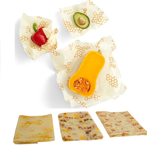 FDA Approved Washable Reusable Food Storage Alternative Beeswax food wraps