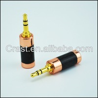 Hi-End Carbon Fiber Gold Plated 3.5MM Stereo Plug 3.5 mm Audio jack connector Adapter gold-plated headphone plug