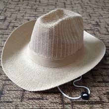 QX874 wholesale beach sun hat The western cowboy hat Men the straw cap custom