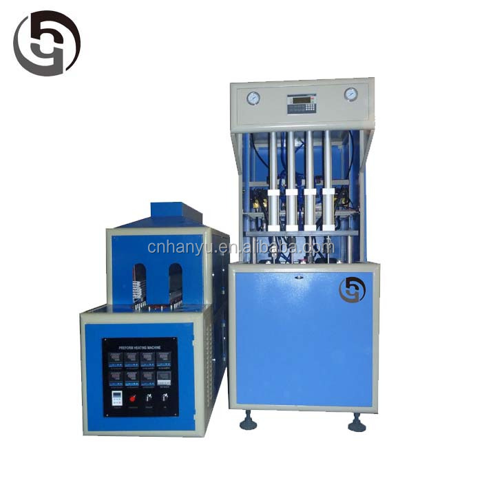 Used plastic blow molding machine/4 cavity semi automatic pet bottle blowing machine