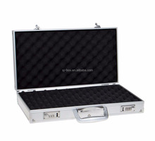 Hot Sell Aluminum Sliver Carrying Handgun Case Pistol Case