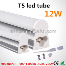 high bright t5 12w led tube light with 3pin holder t5 led fluorescent tube
