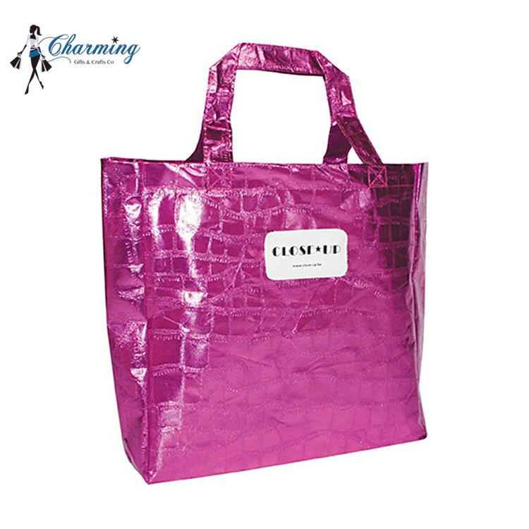Good quality silk screen printing pp nonwoven shopping croco bag customized foldable nonwoven bag
