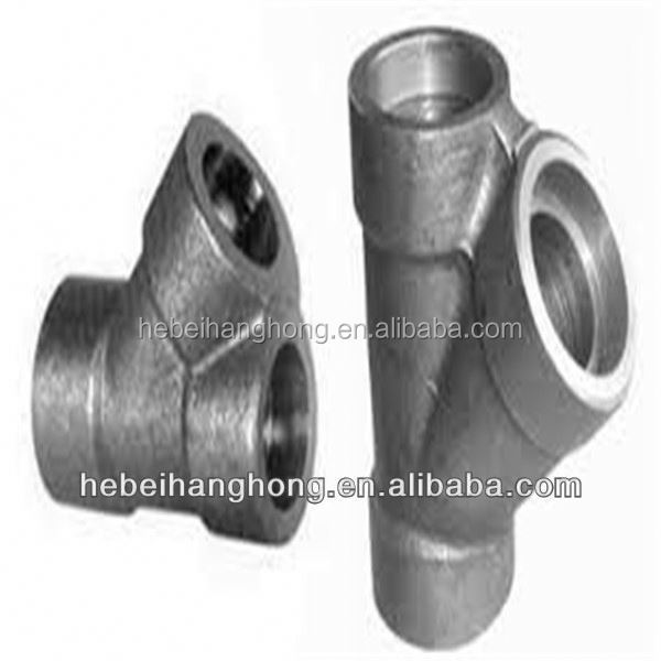 Trade Assurance Supplier standard asme b16.9 carbon steel 45 degree pipe fitting lateral tee