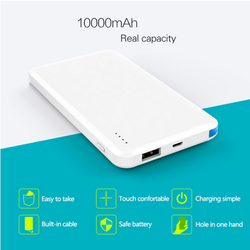 Rohs universal smart super slim credit card mobile portable 10000mah power bank for laptop