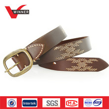 Japan stylish design men cowhide belt
