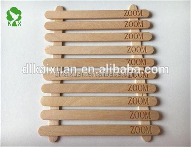 Diaposable birch wooden customized logo ice cream stick