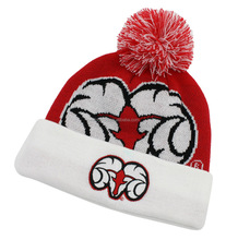 Acrylic jacquard skiing beanie sports knitting hat