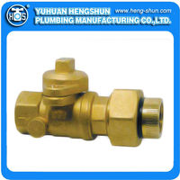 high quality brass ball valve for gas fipxlnsylated fip with insulated union end HS-B1062