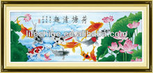 Crystal diamond painting 3d fishing pictures for wall decoration