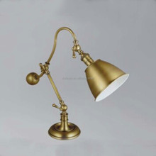 2015 new design simple brass beside table lamp for children desk