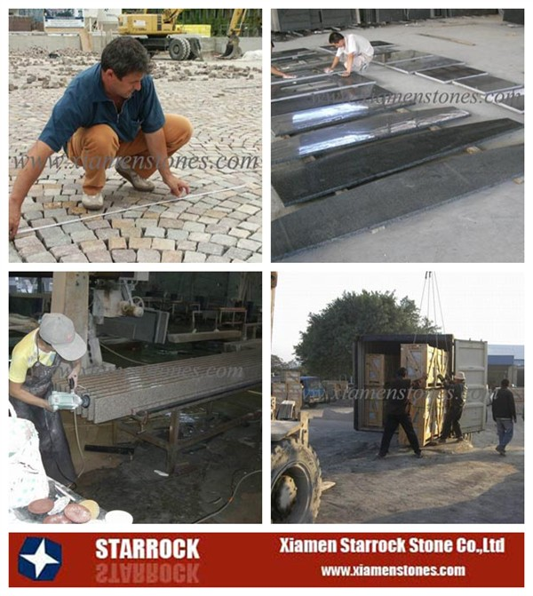 Natural basalt stone factory