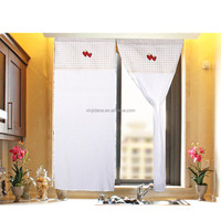 Factory price strawberry design fabric kitchen door curtains