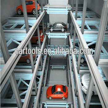 Simple car parking lift for underground garage